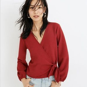 Madewell Texture & Thread Crepe Wrap Top